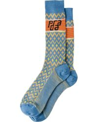 Prada - Jacquard Wool Socks - Lyst