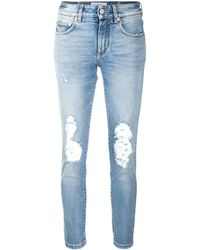 Givenchy Ripped Mid-rise Skinny Jeans - Blue