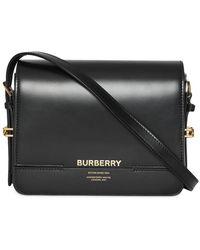 Burberry Grace Leren Tas - Zwart