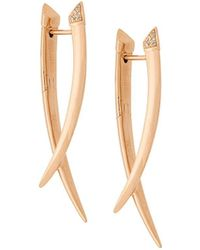 Shaun Leane Sabre Diamond Crossover Earrings - Многоцветный