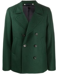 PS by Paul Smith Fitted Double-breasted Coat - Green