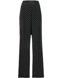 Stella McCartney Pantaloni con logo - Nero