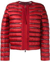 Moncler - Sheer Panel Padded Jacket - Lyst