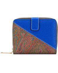 best website 8ea81 45df2 Portafoglio squadrato bicolore - Blu