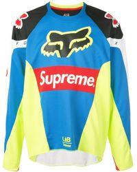 Supreme Fox Racing Moto Jersey Top Ss18 - Blue