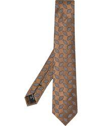 Giorgio Armani Jacquard Print Tie - Brown