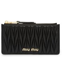 Miu Miu Matelassé Pouch - Black