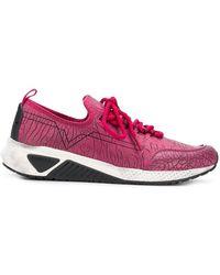 DIESEL - Crack Print Low-top Sneakers - Lyst