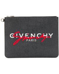 Givenchy Клатч С Логотипом - Черный