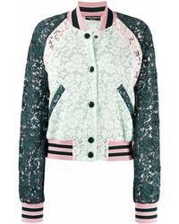 Dolce & Gabbana フローラル ボンバージャケット - グリーン