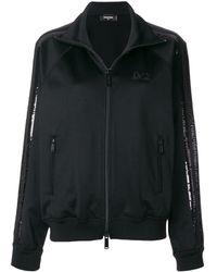 DSquared² Sequin Stripe Sweatshirt - Черный