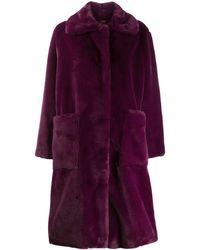 Stand Studio Oversized Coat - Purple