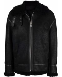 Liska Shearling-trim Sheepskin Jacket - Black