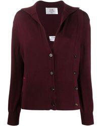Victoria, Victoria Beckham Button-embellished Cardigan - Red