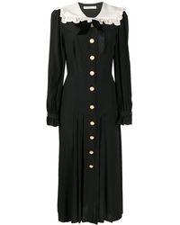 Alessandra Rich ラッフルカラー ドレス - ブラック
