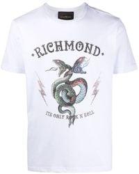 John Richmond プリント Tシャツ - ホワイト