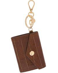 Miu Miu Porte-clés à breloque à porte-monnaie - Marron