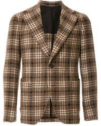 Tagliatore Checked Tailored Jacket - Bruin