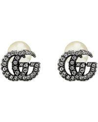 Gucci GG Marmont Crystal Cufflinks - Metallic