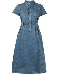 MSGM Джинсовое Платье-рубашка - Синий