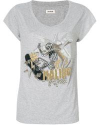 Zadig & Voltaire - T-shirt 'Meryl Canetille Skeleton' - Lyst