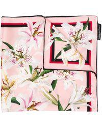 Dolce & Gabbana フローラル スカーフ - ピンク