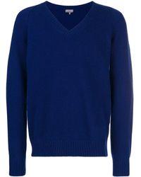 Lanvin Vネック セーター - ブルー