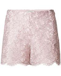 Valentino - Lace Shorts - Lyst