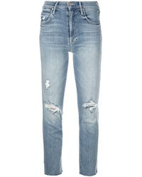 Mother - Distressed Skinny Jeans - Lyst