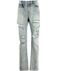 Haculla Distressed Slim Fit Jeans - Blue