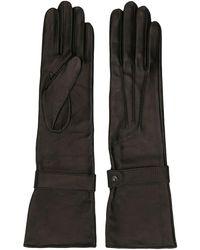 Manokhi - Lange Handschoenen Van Leer - Lyst