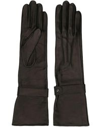 Manokhi Long Leather Gloves - Black
