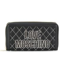 Love Moschino Quilted Wallet - ブラック
