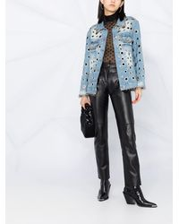 Philipp Plein Джинсовая Куртка С Металлическим Декором - Синий