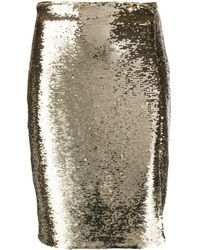 Emporio Armani Sequin Pencil Skirt - Metallic
