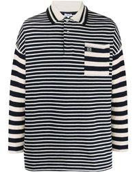 Loewe Breton Stripe Polo Shirt - Blue