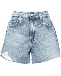 AG Jeans Short en jean Alexis à taille haute - Bleu