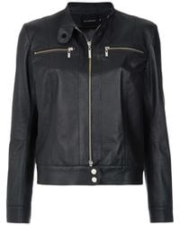 Olympiah Buttoned Collar Jacket - Black