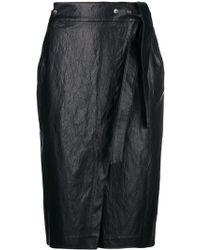 Nude - Wrap Midi Skirt - Lyst