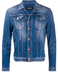 DSquared² Giacca denim con logo - Blu
