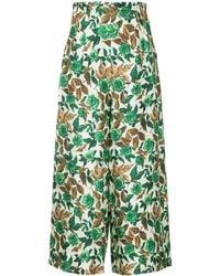 Rachel Comey Floral-print Trousers - Groen