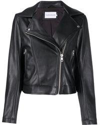 Calvin Klein Hooded Biker Jacket - Black