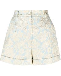 Dolce & Gabbana ジャカード ショートパンツ - ブルー