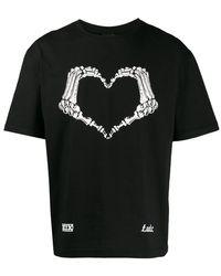 KTZ Skeleton Heart Tシャツ - ブラック