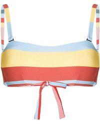 Asceno - Striped Bikini Top - Lyst