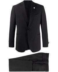 Lardini シングル スーツ - ブラック