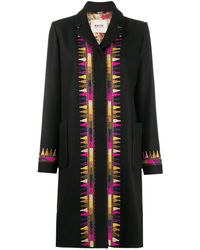 Bazar Deluxe Embroidered Detail Coat - Black
