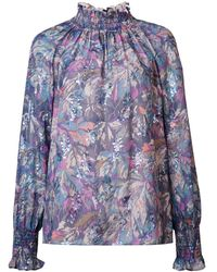 Rebecca Taylor Floral Print Blouse - Paars