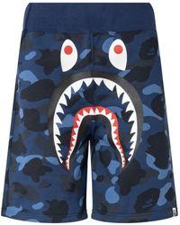 A Bathing Ape Colour Camo Shark ショートパンツ - ブルー