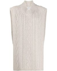 Maison Margiela High-low Hem Knitted Vest - Multicolour